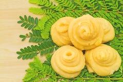 Palma de Palmyra (flabellifer Linn do Borassus ) Jaggery ou açúcar do Palmae imagem de stock