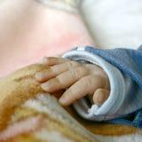 Palma de un bebé, cierre para arriba Foto de archivo libre de regalías