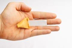 Palma del biscotto di fortuna Fotografia Stock