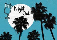 Palma del night-club illustrazione vettoriale