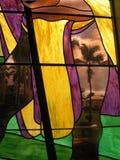 Palma del vidrio manchado Foto de archivo libre de regalías