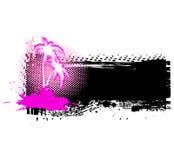 Palma di Grunge. Illustrazione di vettore Fotografia Stock