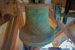 PALMA DI MAIORCA, SPAGNA - 18 AGOSTO 2017: Vista dell'interno della cattedrale della chiesa di Eulalia del san con una campana ve Immagini Stock Libere da Diritti