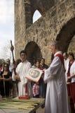 Palma domenica alla missione Fotografie Stock Libere da Diritti