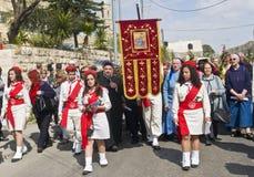 Palma domingo de Jerusalem Imagens de Stock