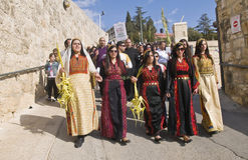 Palma domingo de Jerusalem Imagens de Stock Royalty Free