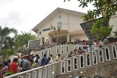 Palma domingo em Batam, Indonésia Foto de Stock