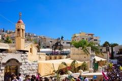 Palma domingo ortodoxo em Nazareth Foto de Stock