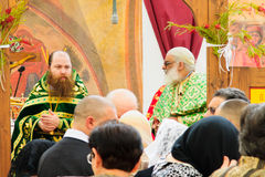 Palma domingo ortodoxo em Nazareth Fotos de Stock