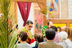 Palma domingo ortodoxo em Nazareth Fotografia de Stock