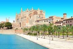 Palma domkyrka Majorca Mallorca Spanien royaltyfria foton