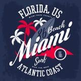Palma e del surf per l'americano Miami illustrazione vettoriale