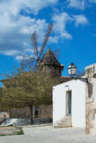 Palma entrance and windmill Royalty Free Stock Image