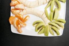Palma hecha de frutas Fotos de archivo