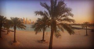 Palma Jumeirah foto de stock