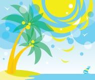 Palma krajobraz ilustracji