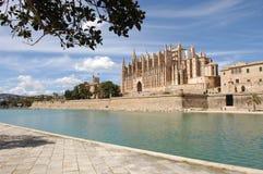 Palma - La Seu and King's Palace Royalty Free Stock Image
