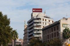 Santander Bank on Plaza de Espana in Palma, Majorca Royalty Free Stock Image