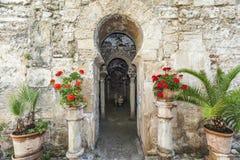 Palma Mallorca,Balearic Islands,Spain. Door entrance to Arab baths, arab legacy in Majorca, Balearic Islands Royalty Free Stock Image