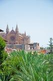 Palma, Mallorca, Majorca, Balearic Islands, Spain, skyline. La Seu in Palma de Mallorca on June 11, 2012. La Seu is the Cathedral of Santa Maria, finished in Stock Images