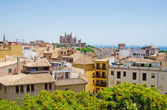 Palma, Mallorca, Majorca, Balearic Islands, Spain. La Seu in Palma de Mallorca on June 11, 2012. La Seu is the Cathedral of Santa Maria, finished in 1601 Stock Images