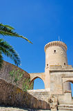 Palma, Mallorca, Majorca, Balearic Islands, Spain. The tower of Bellver Castle on June 11, 2012. Bellver Castle, 3 km from Palma, is a Gothic style castle built Stock Image