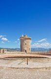 Palma, Mallorca, Majorca, Balearic Islands, Spain. The tower of Bellver Castle on June 11, 2012. Bellver Castle, 3 km from Palma, is a Gothic style castle built Stock Photo
