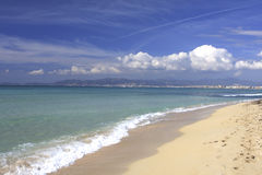 palma - Mallorca na plaży Fotografia Royalty Free