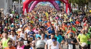 Palma maratonu przyrodni biegacze podczas popularny biegowy szerokiego obrazy royalty free