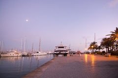 Palma marina boats moored Royalty Free Stock Photography