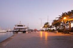 Palma marina boats moored Royalty Free Stock Photo