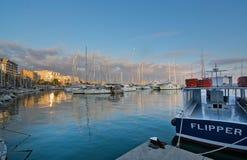 Palma marina boats moored Royalty Free Stock Images