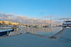 Palma marina boats moored Royalty Free Stock Image