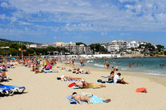 Palma Nova-Strand auf der Insel von Majorca Stockbild