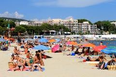Palma Nova-strandtoevlucht in Majorca Stock Foto's