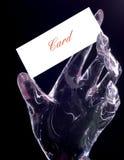 A palma plástica transparente imagens de stock