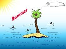 Palma przy wyspą royalty ilustracja