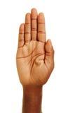 Palma ręka afrykański mężczyzna zdjęcia royalty free