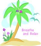 palma relaksuje seagulls drzewo Zdjęcia Royalty Free