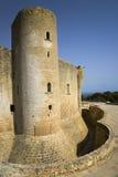 Palma slott de Bellver, Bellver slott, Majorca, Spanien, Europa, Balearic Island, medelhav, Europa Royaltyfri Bild