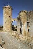 Palma slott de Bellver, Bellver slott, Majorca, Spanien, Europa, Balearic Island, medelhav, Europa Arkivbild