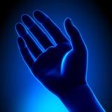 Palma vazia humana - conceito azul ilustração royalty free