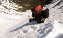 Palmada peligrosa de la nieve Imágenes de archivo libres de regalías