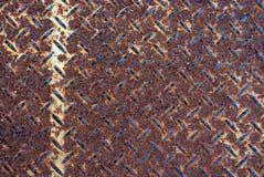 Palmadita de acero oxidada del apretón Imagen de archivo