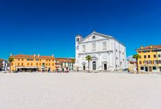 Palmanova Italien: Central fyrkant Royaltyfria Foton