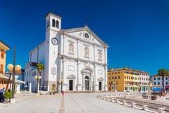 Palmanova Italien: Domkyrka av Palmanova Arkivfoto