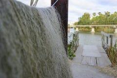 Palmar fishing net. Valencia, Spain - August 26, 2017: Fishing net of the Palmar in the Valencian Community, Spain stock images