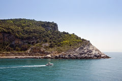 Palmaria. Island viewed from Portovenere stock images