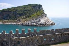 Palmaria. Island viewed from Portovenere royalty free stock photography