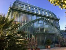 Jardin des Serres d`Auteuil botanical garden in Bois de Boulogne stock image
